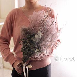 ポピーとスモークツリーのドライフラワー花束