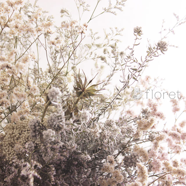 白いドライフラワー花束2