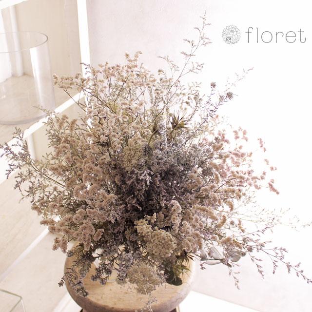 白いドライフラワー花束4