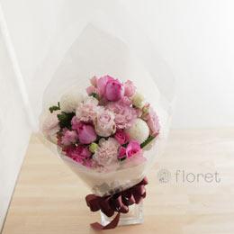 グラデーションピンクの花束