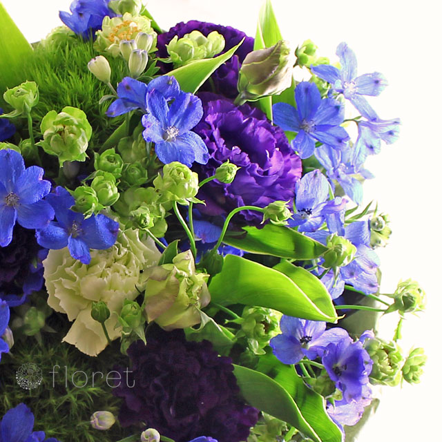 青と紫と緑のブーケ2