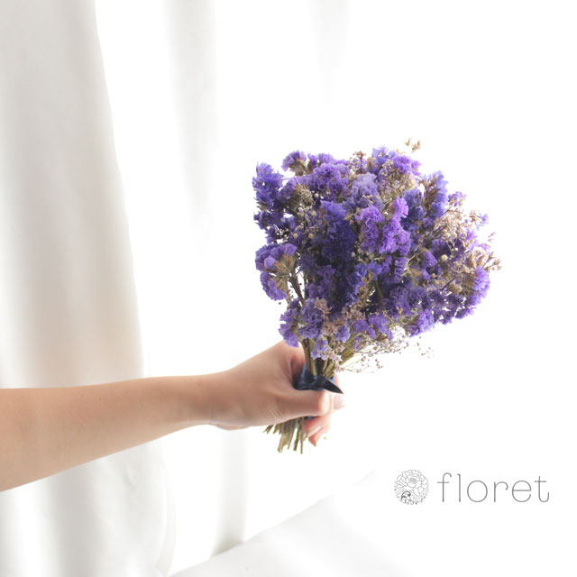 ドライフラワーのミニブーケ(紫)1