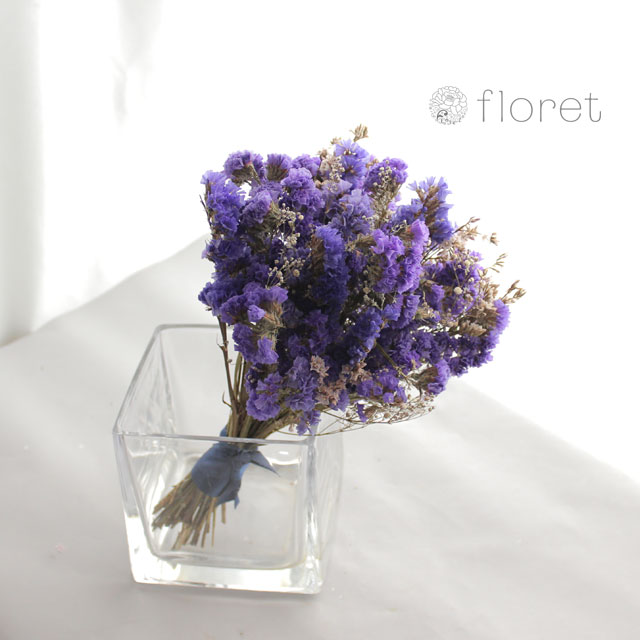 ドライフラワーのミニブーケ(紫)3