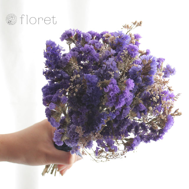 ドライフラワーのミニブーケ(紫)2