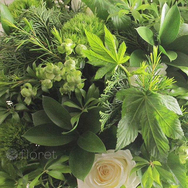 たっぷりな葉物を贅沢大使用した大胆なアレンジメント2