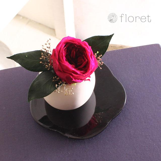 大輪花の和風プリザーブドフラワー