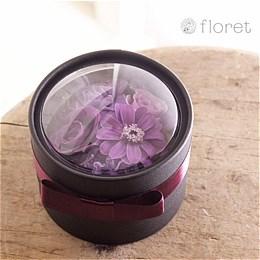 シックな紫のminiBOXプリザーブドフラワー