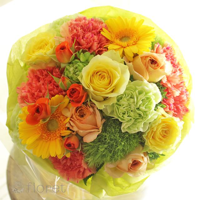 黄色オレンジ系花束・ブーケ(5,500円)サンプル画像8
