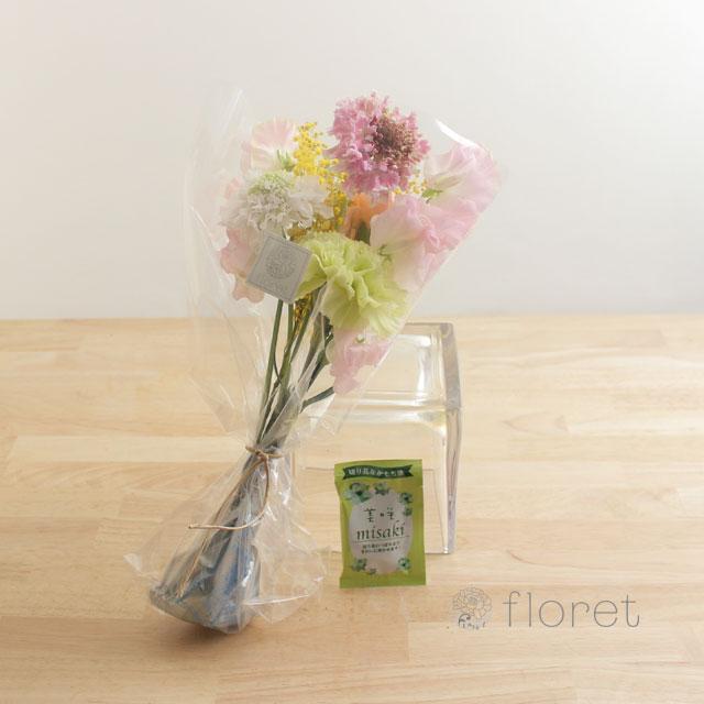 ご自宅に飾る花には延命剤付